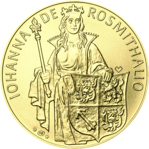 Johana z Rožmitála na zlaté minci