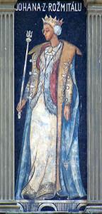 Johana - freska s domu na Smíchově