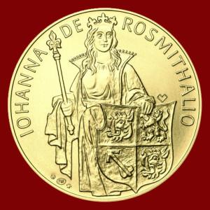 Johana z Rožmitála na zlaté minci s HP