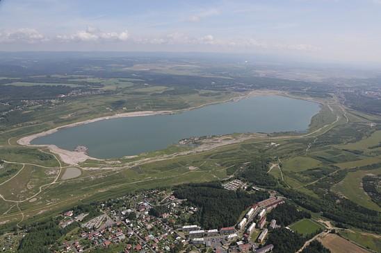 Rekultivace krajiny po těžbě uhlí na Sokolovsku