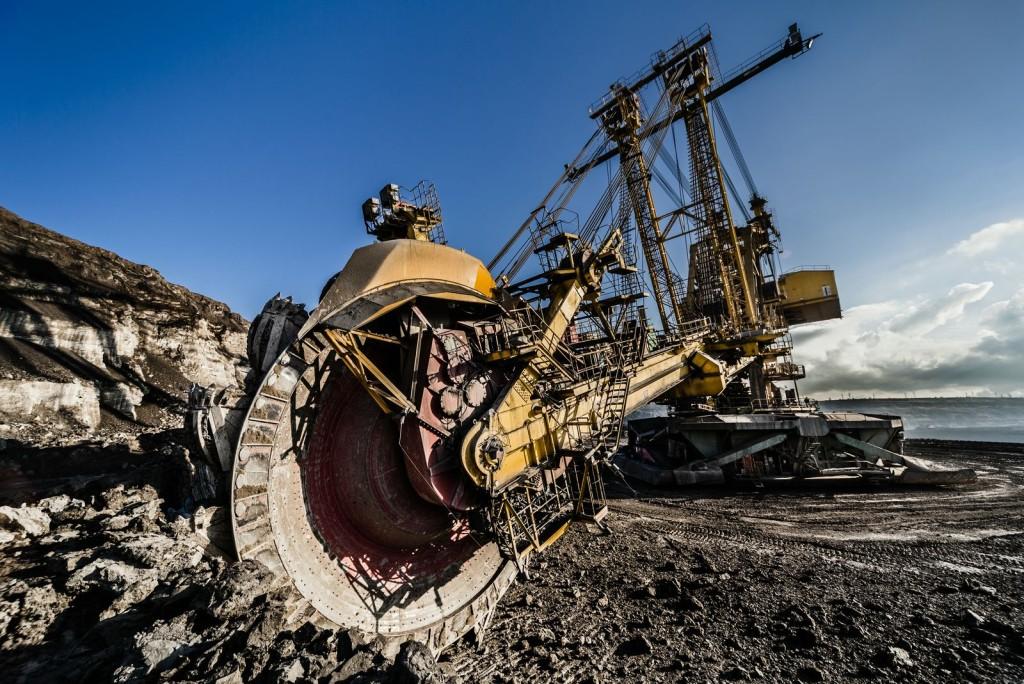 Povrchová těžba uhlí na Sokolovsku